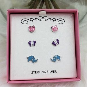 Other - ⚡Flash Sale⚡Girls' Sterling Silver earrings set